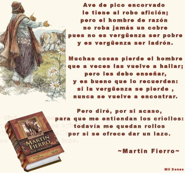 Consejos de Martin Fierro