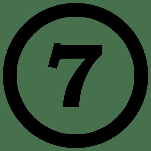 7NumberSevenInCircle